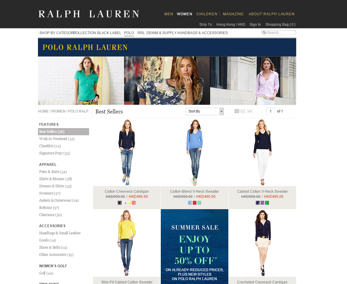 Polo Ralph Lauren 做緊 Summer Sale