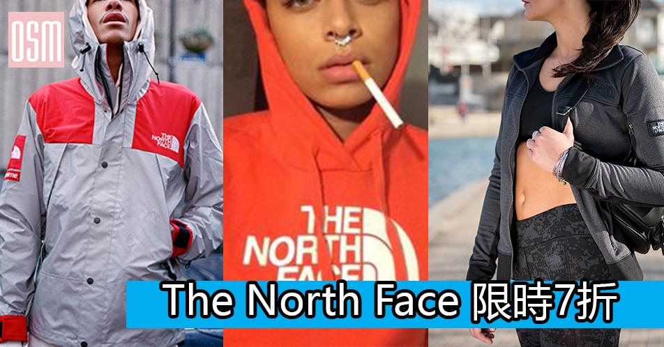 The North Face 限時7折+免費直運香港/澳門