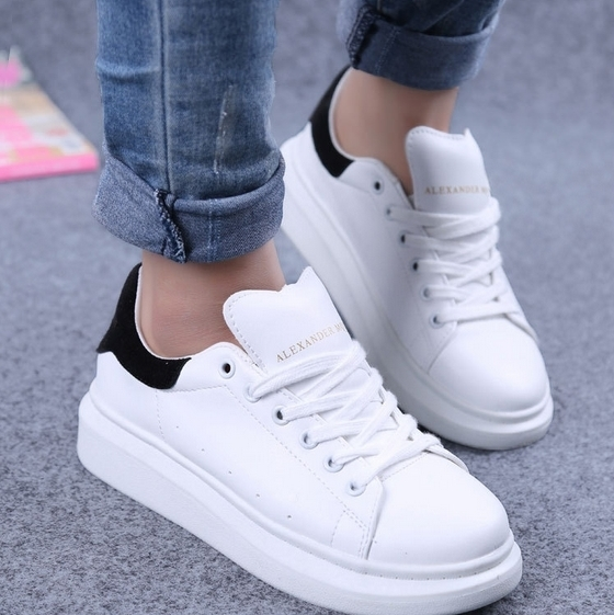 Ladies White Grey Shoes