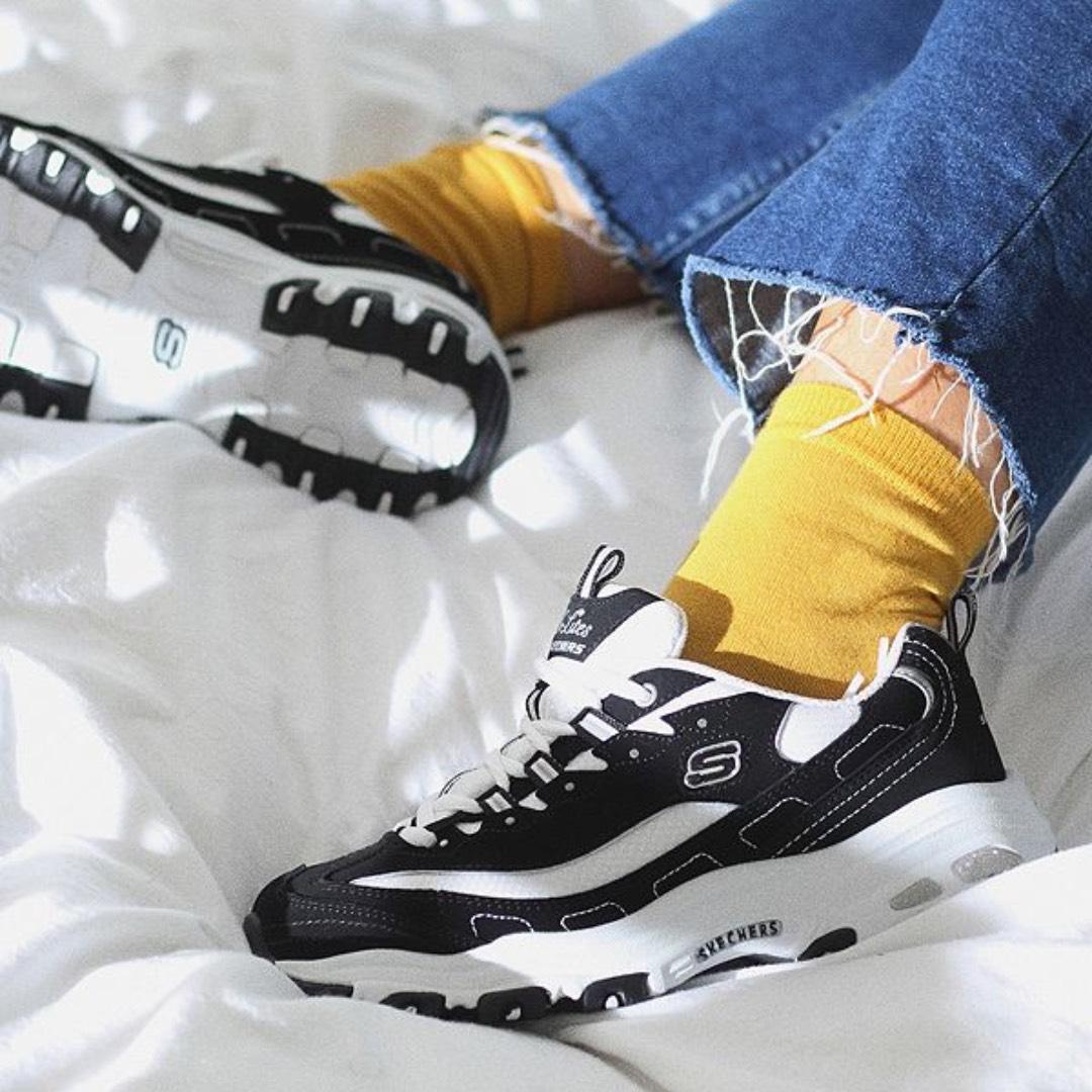網購Skechers D'Lite老爹鞋低至8折+免費直運香港/澳門