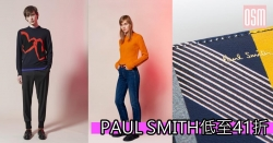 PAUL SMITH低至41折+(限時)免費直運香港/澳門